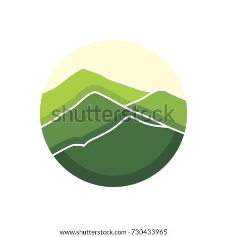 green canyon landscape icon logo