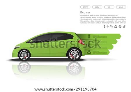 green car concept  car
