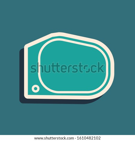 green car mirror icon isolated