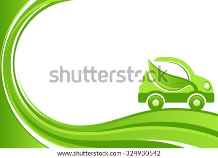 green car vector background