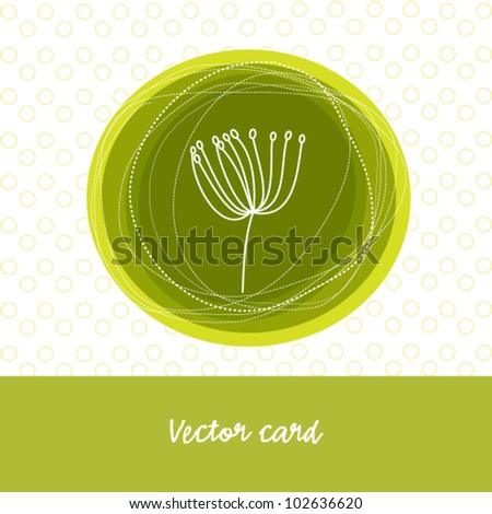 Green card with flower