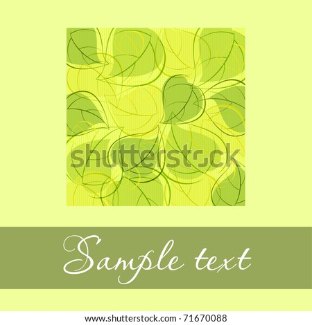 green card with green leaves