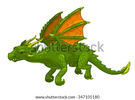 green cartoon fantasy dragon