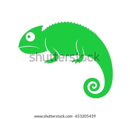 green chameleon abstract