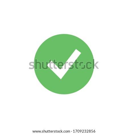 Green check box on green circle check box vector illustration