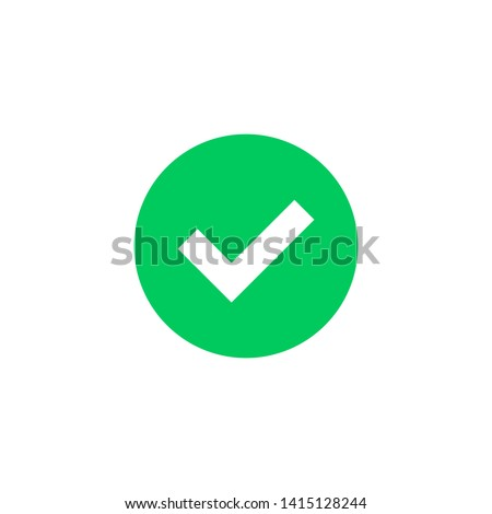 Green check mark icon. Green tick symbol. Vector check icon Photo stock ©