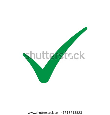 Green check mark icon isolated on white background.