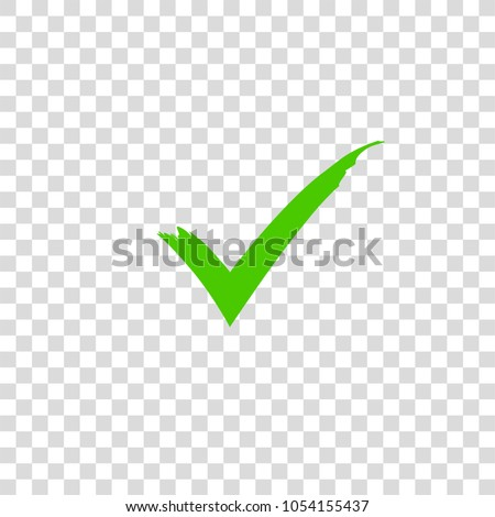 Green check mark icon. Vector check mark. Vector illustration, color easy to edit. Transparent background.