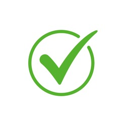 Green check mark icon vector design