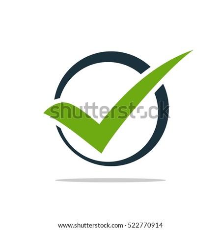 Green Check Mark Logo Template
