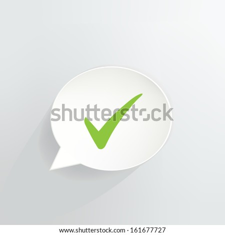 Green Check Mark Speech Bubble