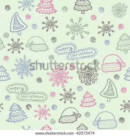green christmas seamless pattern