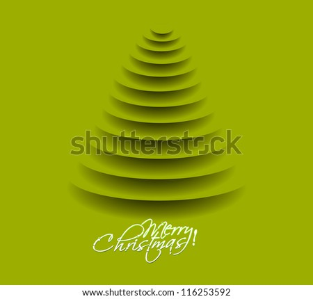green christmas tree, design, vector illustration.