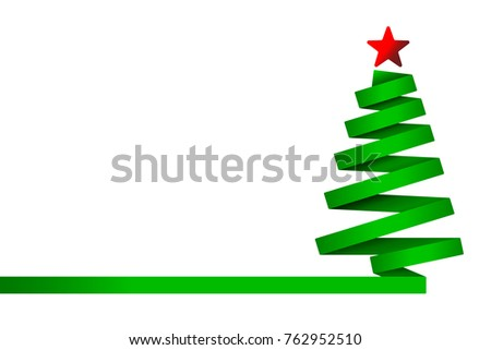 green christmas tree made from