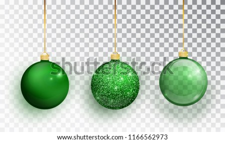 Green Christmas Tree Toy Set Isolated On A Transparent Background Stocking Decorations Vector