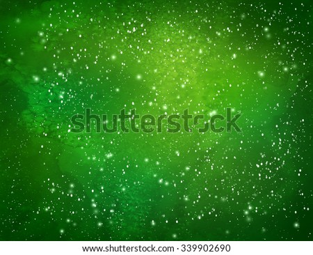 green christmas watercolor