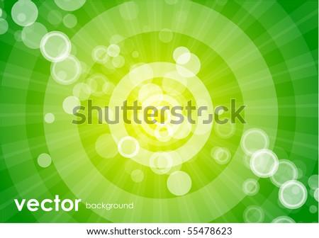 stock vector Green circles Vector abstract background