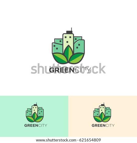 Green City for Logo Template Design
