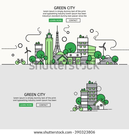 green city for website banner