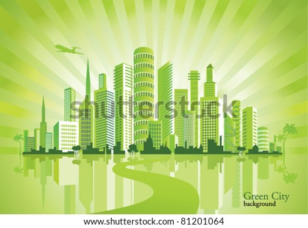Green City. Urban background. Environment.