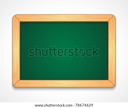 Green class board vector background. Eps 10.