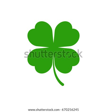 Stock Photo Green clover icon. Vector.