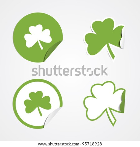 Green clover stickers for the St Patricks holiday.
