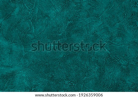 Green color background. Texture emerald wall. Abstract dark paint pattern. Stone concrete wall. Rough grain backdrop plaster. Surface stucco. Design banner, wallpaper, poster, template, card. Vector