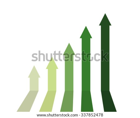 green color of graph rising up