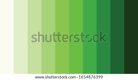 Green color palette vector illustration Foto d'archivio ©
