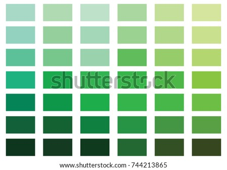Green color palette vector illustration