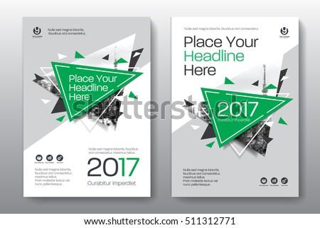 Green Color Brochure Flyer Template Download Free Vector Art