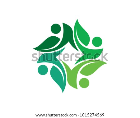 Green Community Logo Template Design Vector, Emblem, Design Concept, Creative Symbol, Icon #1015274569