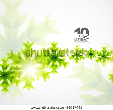 Green concept and Christmas. Vector abstract background