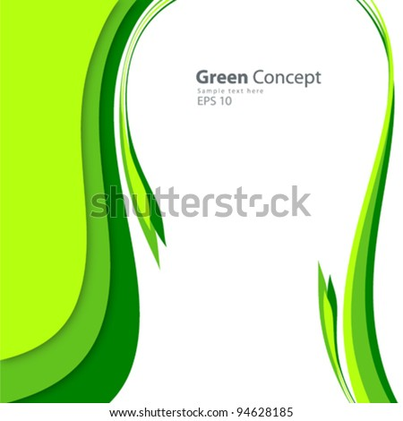 Green concept background vector illustration