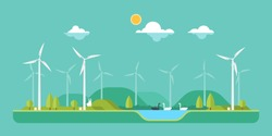 Green concept - wind energy
