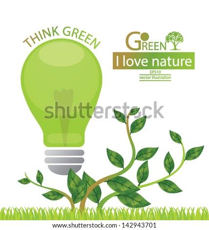 Green concepts save energy. save world. vector illustration.