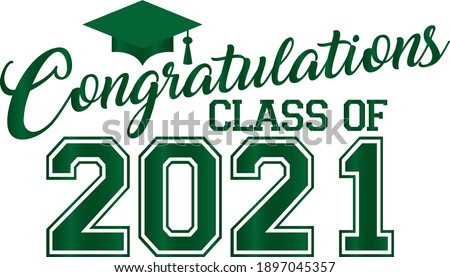 Green Congratulations 2021 Graduates Banner