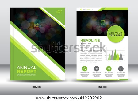 Green company profile template vector download free vector art green cover design annual report template business brochure flyer infographics elements poster spiritdancerdesigns Image collections