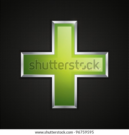 Green cross clean icon and polygon texture