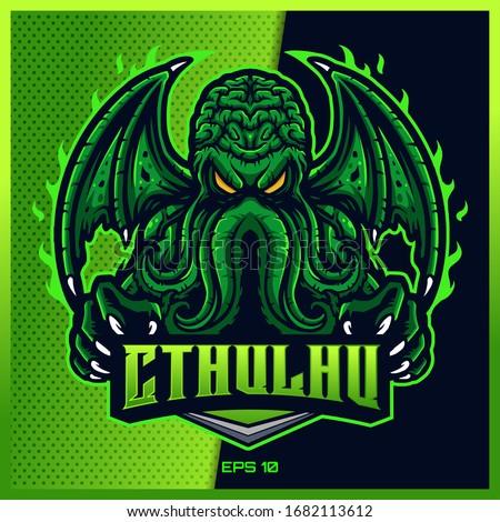 green cthulhu grab text esport