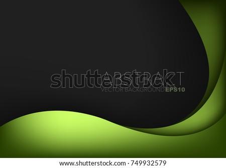 green curve frame vector