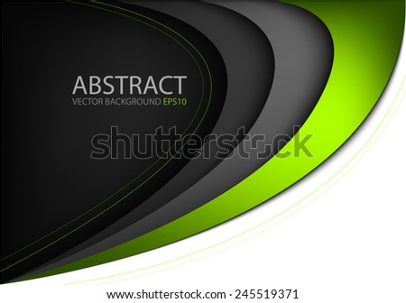 green curve line background on
