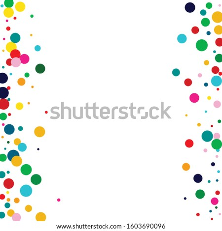 Green Decoration Rain Illustration. White Abstract Dot Backdrop. Effect Backdrop. Carnival Orange Wallpaper.