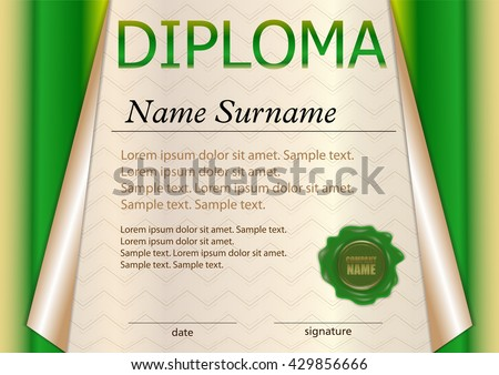 Premium brown certificate design template download free vector green diploma or certificate template award winner winning the competition reward curled yelopaper Images
