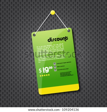 green discount hanging sign