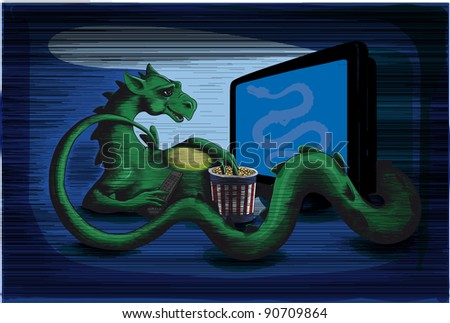 green dragon is in the twilight
