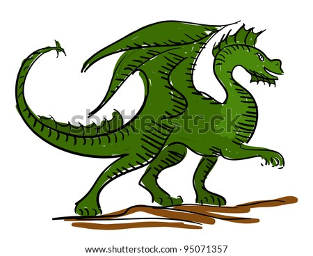 green dragon kids sketch
