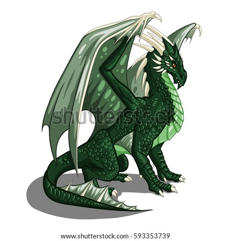 Green dragon - vector illustrations