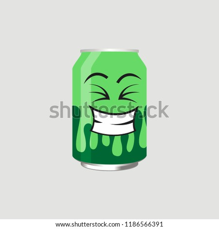 green drink can with expression